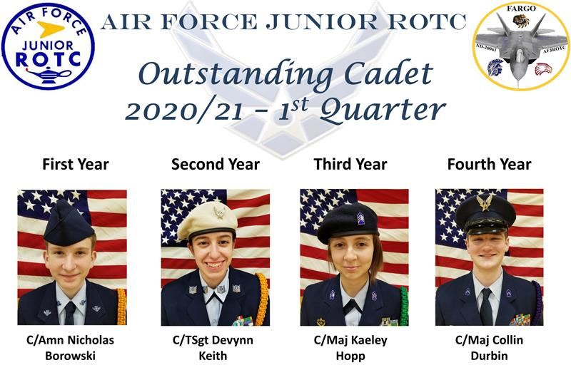 1st Qtr Outstanding Cadets