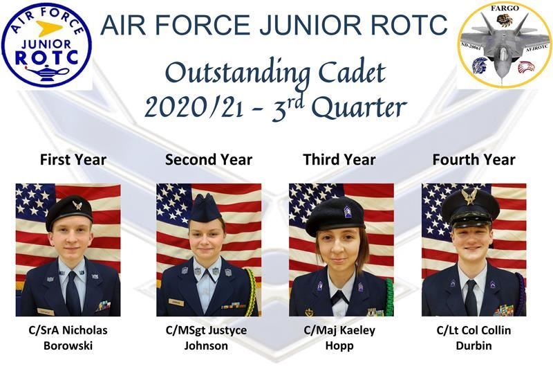 3rd Quarter Outstanding Cadets