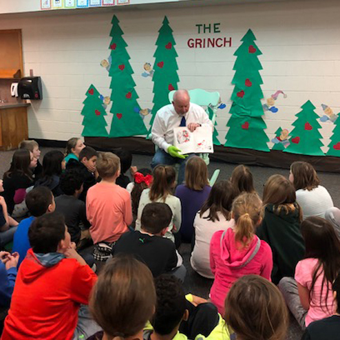 Mr. Carlson reads The Grinch