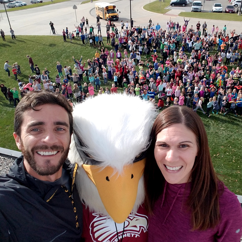 Eagle Selfie on Roof